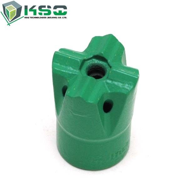 H25 Threaded Small Hole Drilling Cross Bits Metal For Minning Quarring