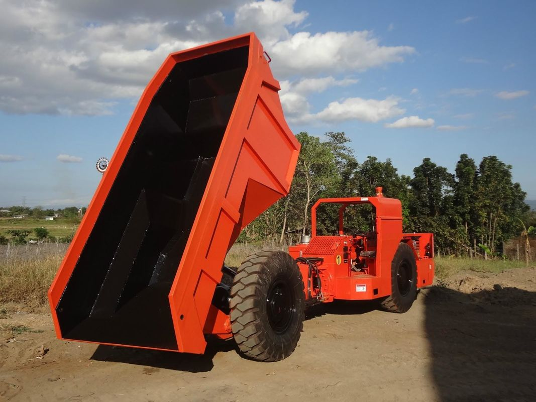 Orange 12 Tons Underground Mining Truck , Gold Mining Drilling Equipment