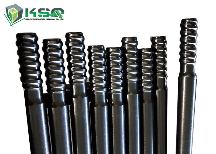 Extension Top Hammer Threaded Drill Rod  For Mining / Tunnel Drilling Carbon Steel